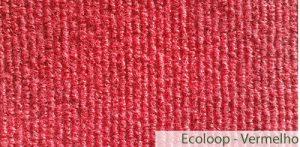 Carpete (Forração) para Eventos Ecoloop Vermelho