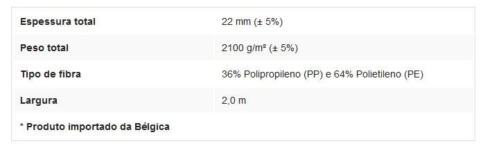 Especificações Técnicas Grama Sintética Beaulieu Spring