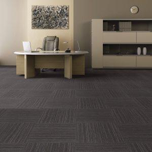 Ambiente com Carpete em Placas Linea