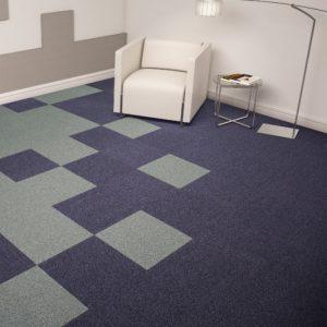Ambiente com Carpete em Placas Mistral