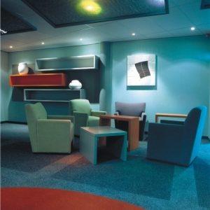 Ambiente com Carpete em Rolo Berber Point 920
