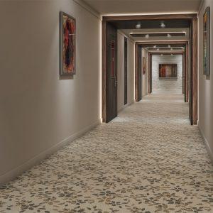 Ambiente com Carpete em Rolo Colortuft Floral