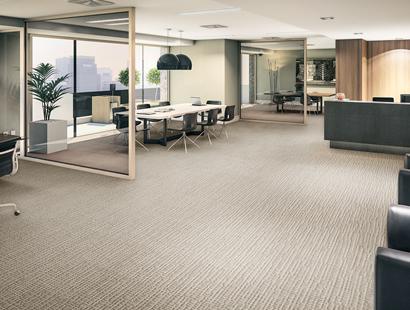 Ambiente com Carpete em Rolo Colortuft Forma