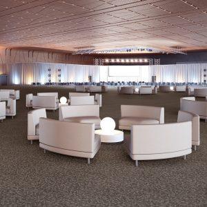 Ambiente com Carpete em Rolo Colortuft Ritmo