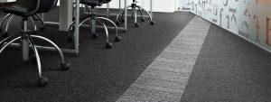 Ambiente com Carpete em Placa DESSO - Essence Stripe