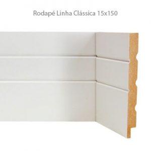 Rodapé em MDF Branco Linha Clássica 15x150