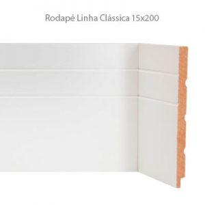 Rodapé em MDF Branco Linha Clássica 15x200