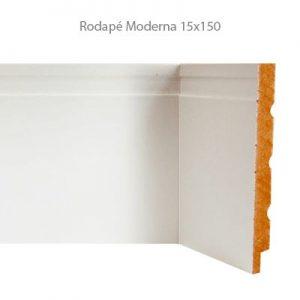 Rodapé em MDF Branco Linha Moderna 15x150