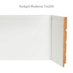 Rodapé em MDF Branco Linha Moderna 15x200