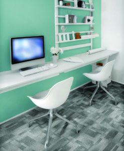 Ambiente com Carpete em Placa Tarkett Basic Block