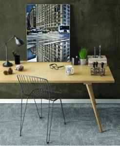 Ambiente com Carpete em Placa Tarkett Basic Skin