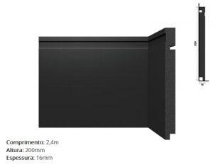 Rodapé de Polestireno Black 3505 RP 70