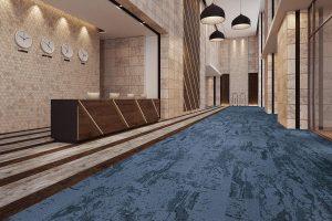Ambiente com Carpete em Placas Forge Beaulieu