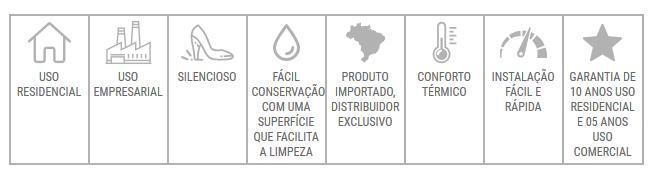 Detalhes do Piso Vinílico Ospe Floor