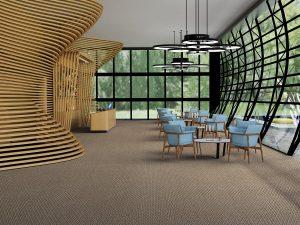 Ambiente com Carpete em Rolo Belgotex Access