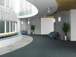 Ambiente com Carpete em Rolo Belgotex Dimension
