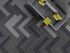 Ambiente com Carpete em Placa Agregatta