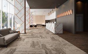 Ambiente com Carpete em Placa Forge