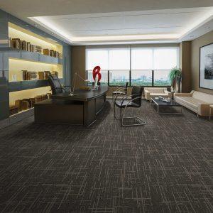 Ambiente com Carpete em Placa Gravity