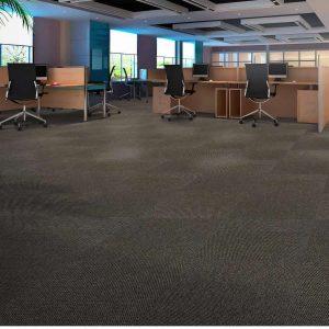 Ambiente com Carpete em Placa Plain Bac