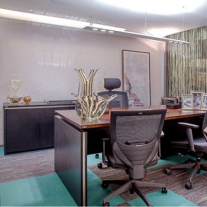 Ambiente com Carpete em Placa Tendency Collection
