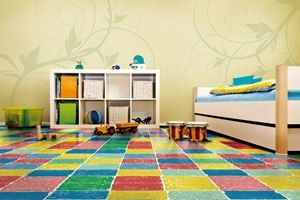 Ambiente com Piso Vinílico Tarkett Imagine Magic Doodle
