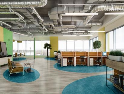 Ambiente com Piso Vinílico Tarkett em Régua Ambienta Square Coleção Set 24025673