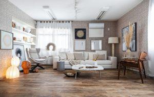 Ambiente com Piso Vinílico Tarkett em Régua Design Amaranto1