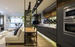 Ambiente com Piso Vinílico Tarkett em Régua Design Brauna 9345685
